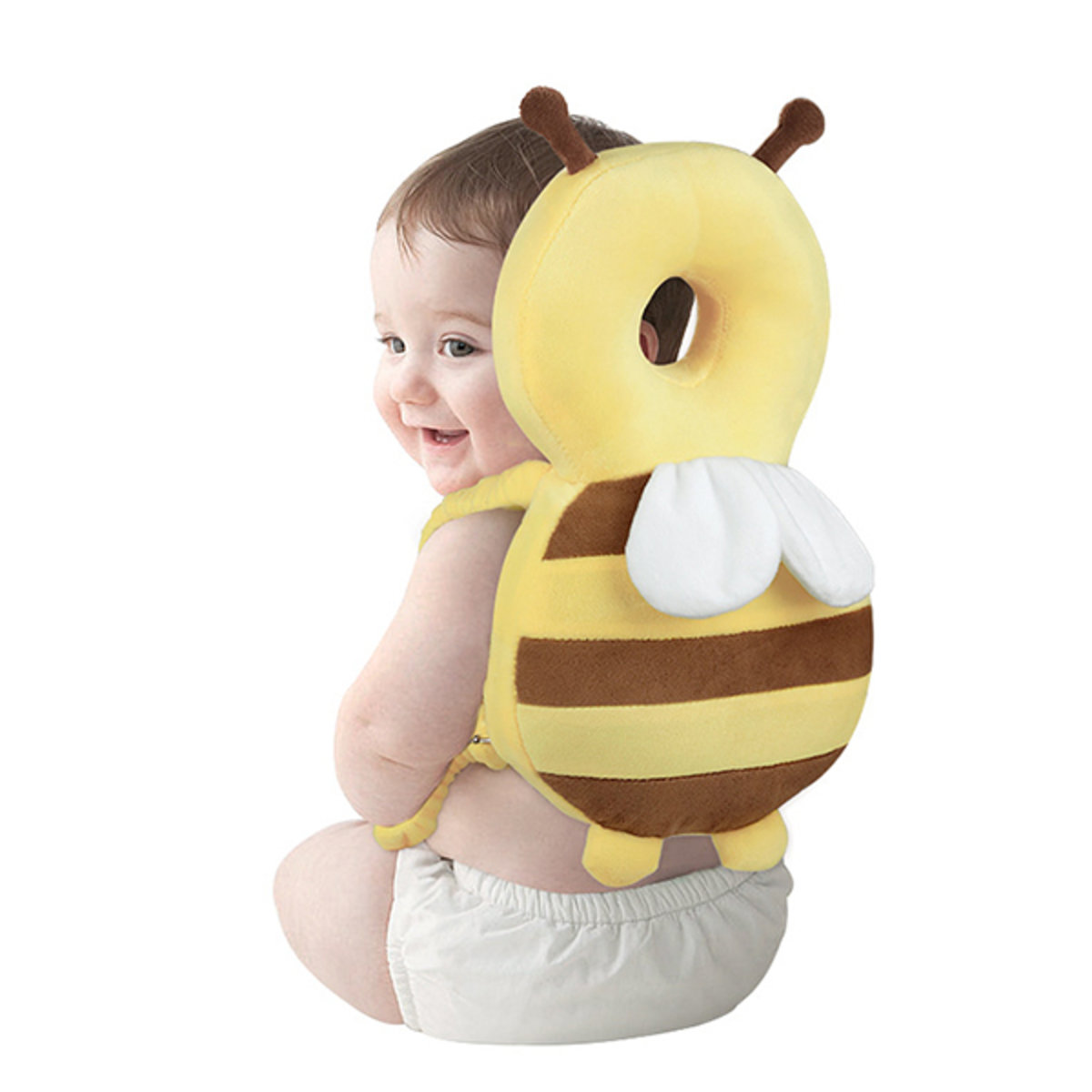 Baby toddler headrest with built-in pinch stereo breathable version