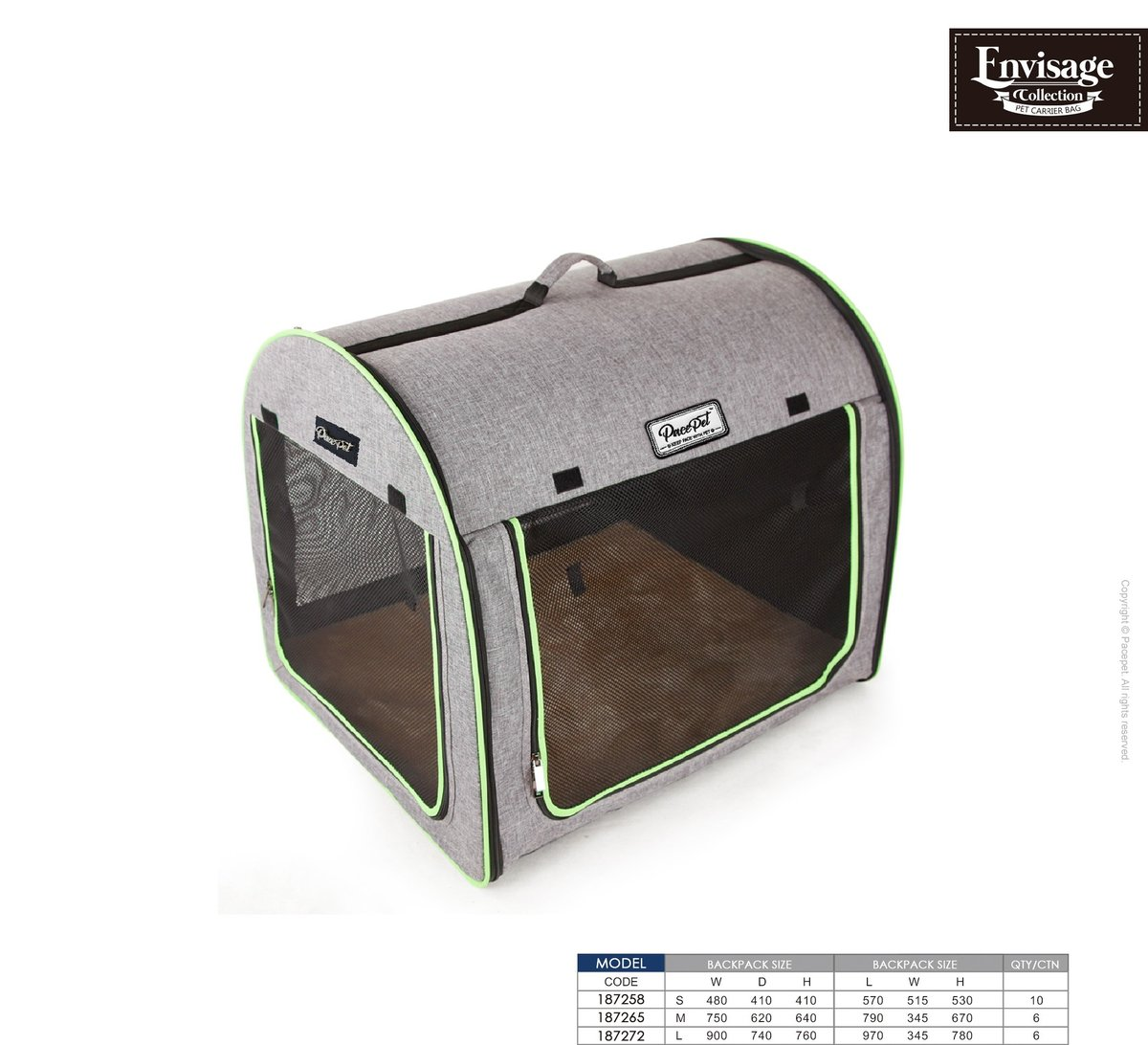 英國PacePet Envisage Plus系列-灰色&綠色寵物帳幕(M)