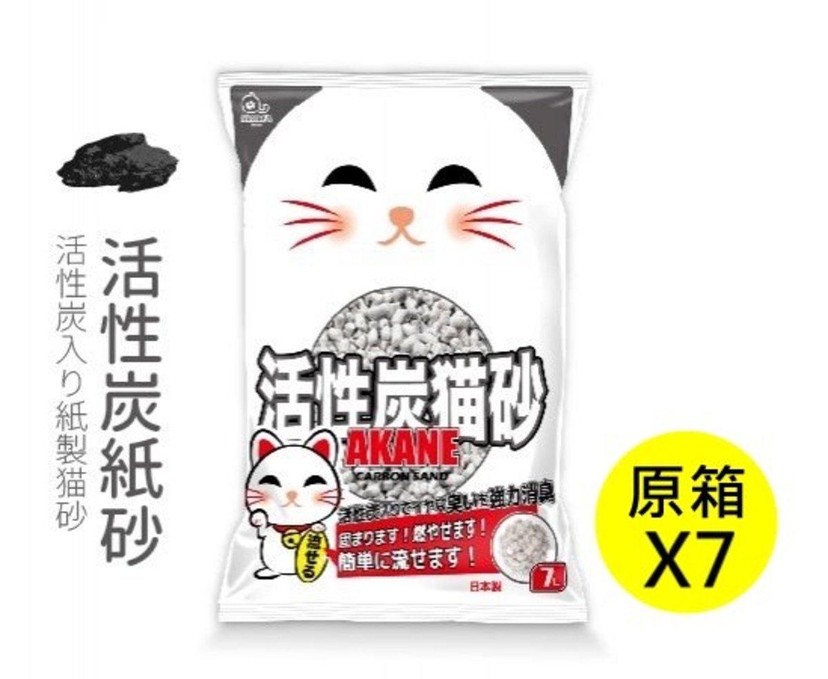 活性碳紙貓砂7L(原箱7包)