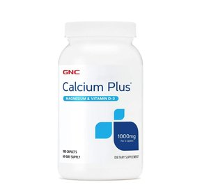 GNC Calcium Plus 鈣片1000mg 含鎂及維他命D3 180粒
