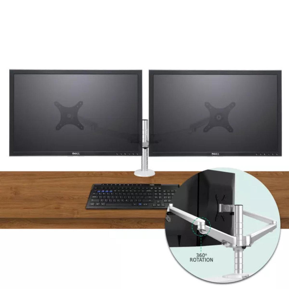 雙屏液晶顯示器升降旋轉雙用支架
