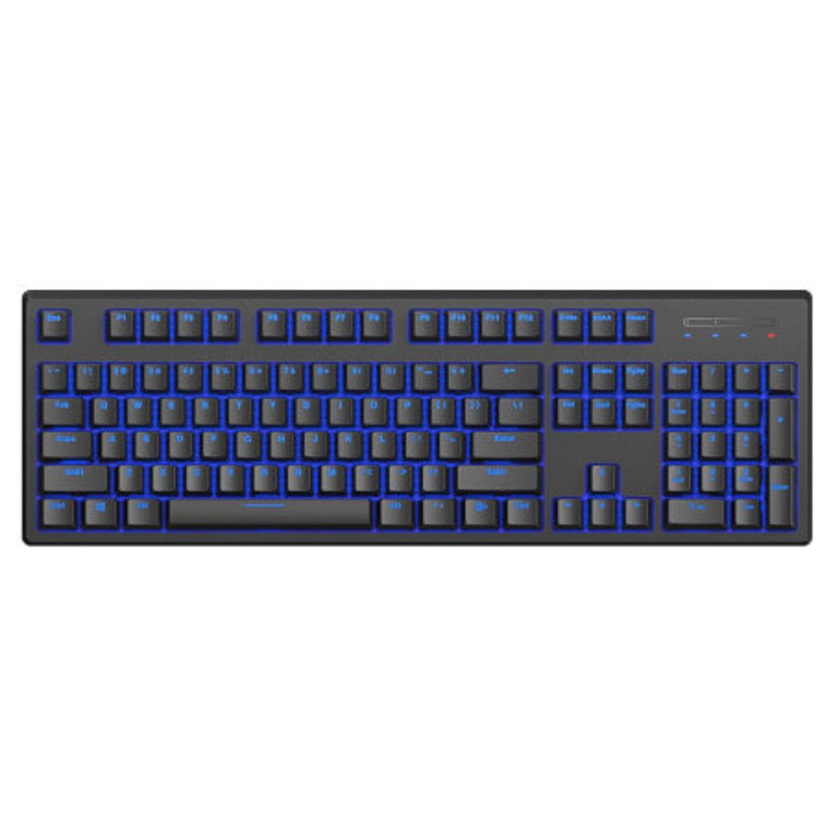 V708多模式藍牙有線背光遊戲機械鍵盤(黑軸)