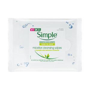 SIMPLE 清妍親膚保濕潔淨卸妝紙巾 25片 (原裝行貨)(09778) 25 片
