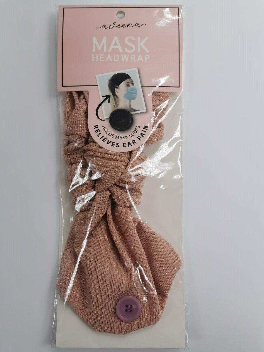 Women Mask Headwrap (Flashing peach)