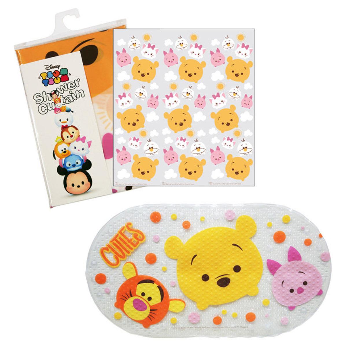 Shower Curtain & Bath Mat Set (Pooh & Marie) (Licensed by Disney)
