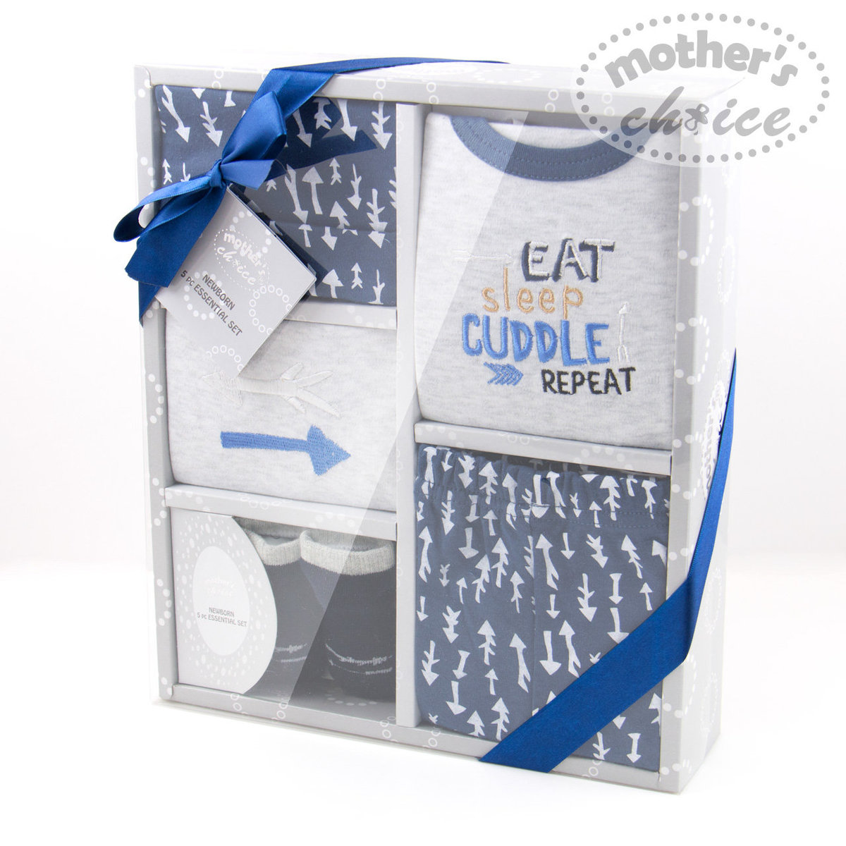 Baby 5 pcs gift set in Blue