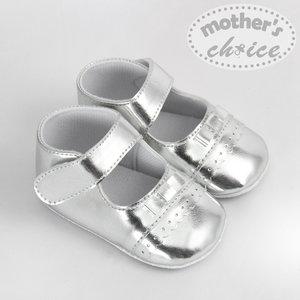 Mother Choice 嬰兒鞋9-12M(銀絲帶) 0-6 個月/ 6-9個月/ 9-12個月