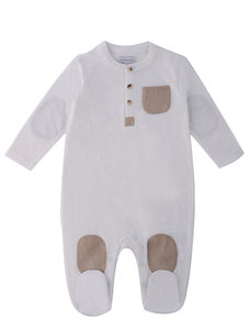 Mother Choice (夏季)嬰兒透氣棉竹節長袖長夾衣/和尚袍(0-3個月)  0-3 個月/  3-6個月/ 6-12個月