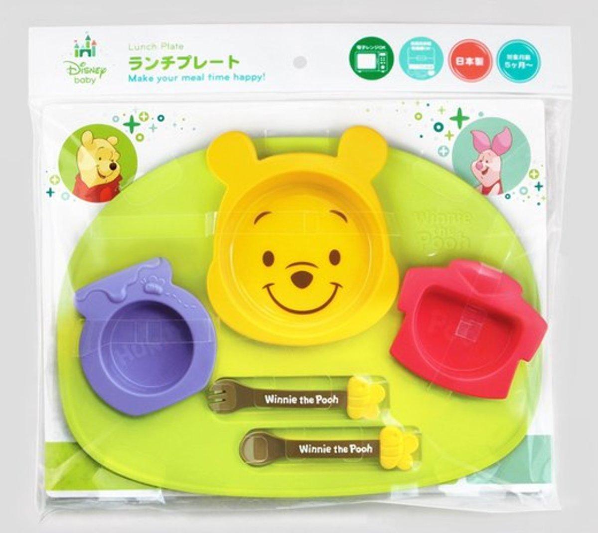 (Winnie the Pooh) (1 set of 6 pcs) Made in Japan Disney Kid's Plastic Cutlery Set