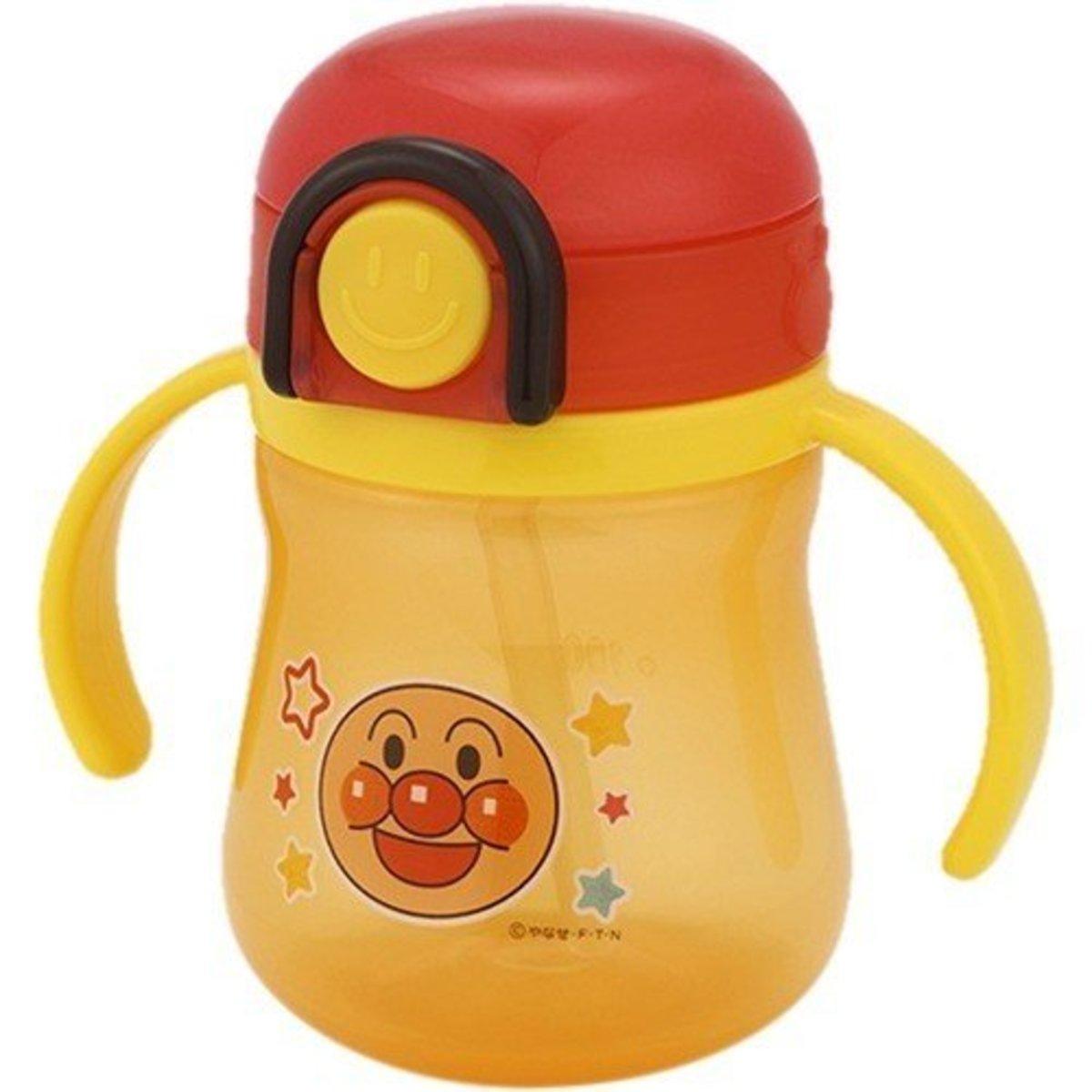 Japan LEC Toddlers Straw Water Bottle w/ 2 Handles - Anpanman