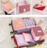 (Orange) Diniwell Korean Style Travel Storage Bag (1 set of 6 pcs)