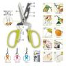(Random Colour) Japan Multi-function Stainless Steel Kitchen Scissors - 10 Functions