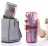 (紫色 透明) 旅行便攜洗漱用品收納杯 x 1套