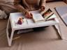 (白色) 創意摺叠床上電腦枱/書枱 x 1張