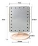 (黑色) 雙向旋轉LED觸控調光化妝鏡