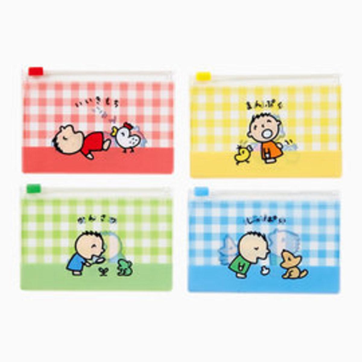 (大口仔) (1套4個) 日本Sanrio 多用途拉鏈透明密實袋 x 1套