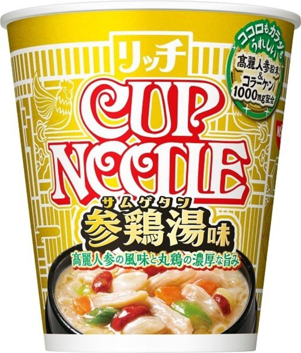 Japan Korean Ginseng Chicken Soup Flavour Cup Noodle x 6pcs