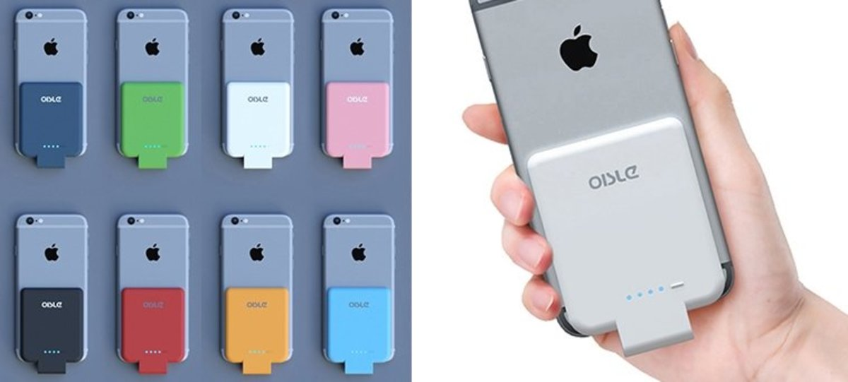 (Light Blue) Oisle iPhone Lightning Super Thin Backclip Power Bank 2800mAh