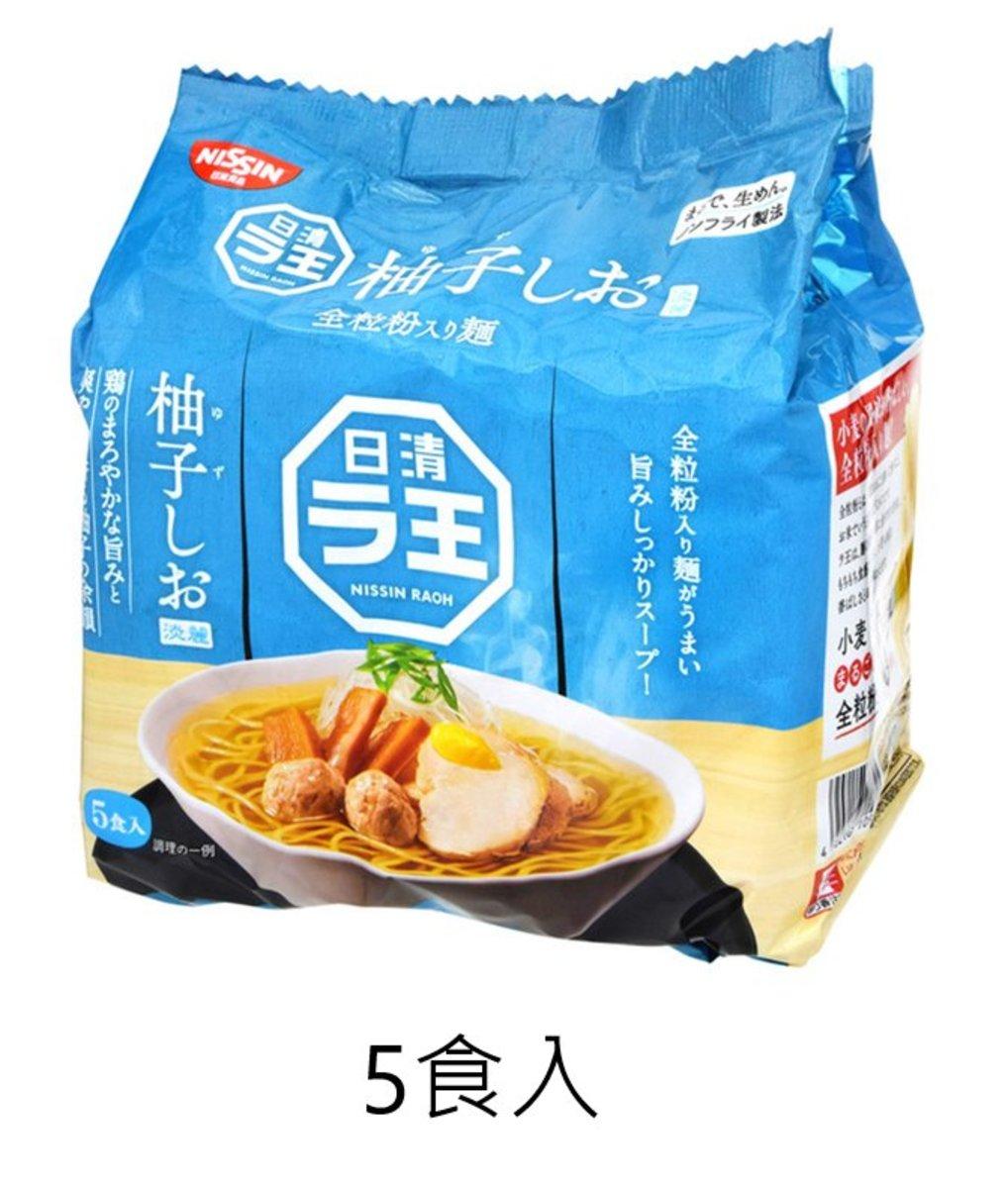 (5食) 日本日清之王 柚子鹽味拉麵 (5食入) x 1包