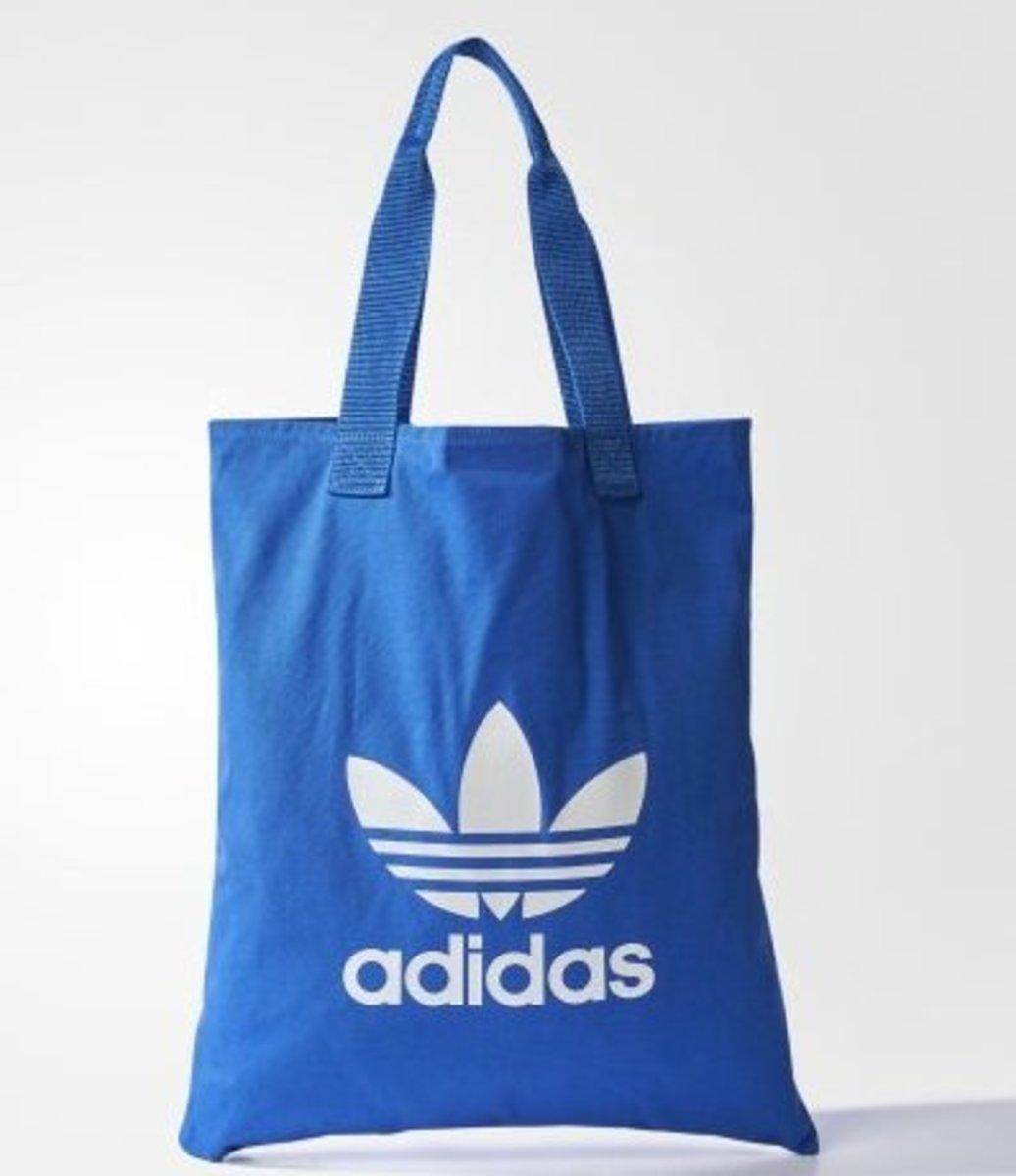 (Blue Tote Bag) Japan❤️adidas Originals Casual Tote Bag in Simplicity Style
