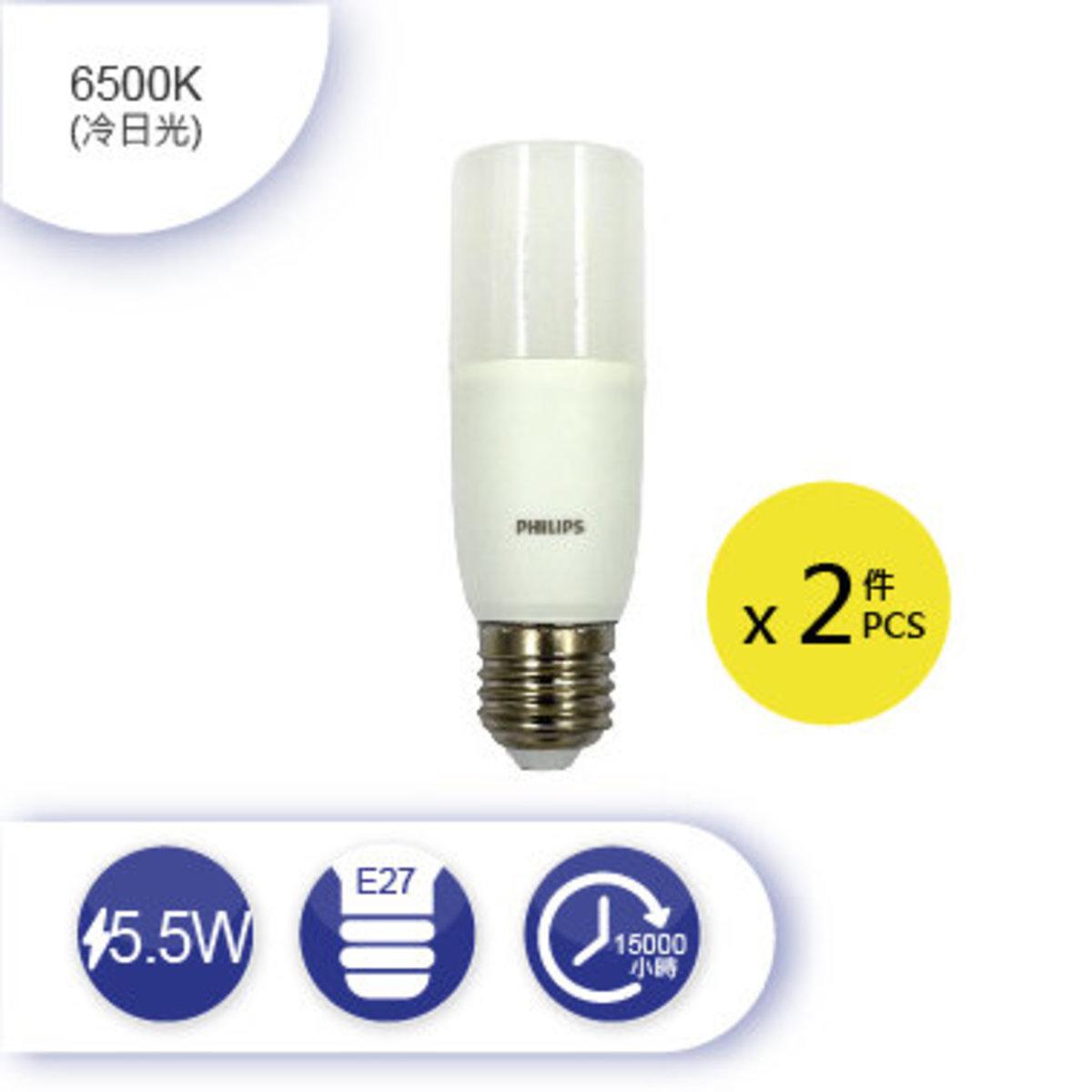 LED Stick  5.5W E27 6500K - pack of 2
