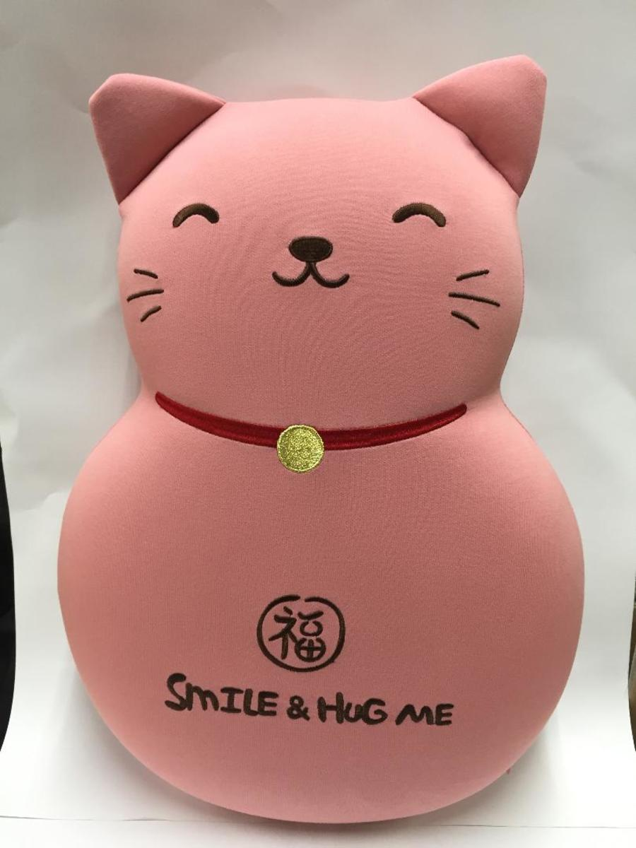 Memory Foam Cushion - Cat Pink
