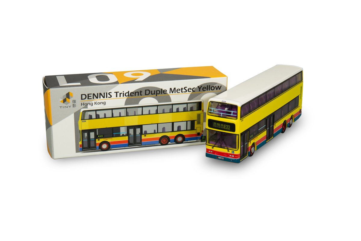 Tiny City L09 Die-cast Model Car - DENNIS Trident Duple MetSec Bus Yellow (E22)