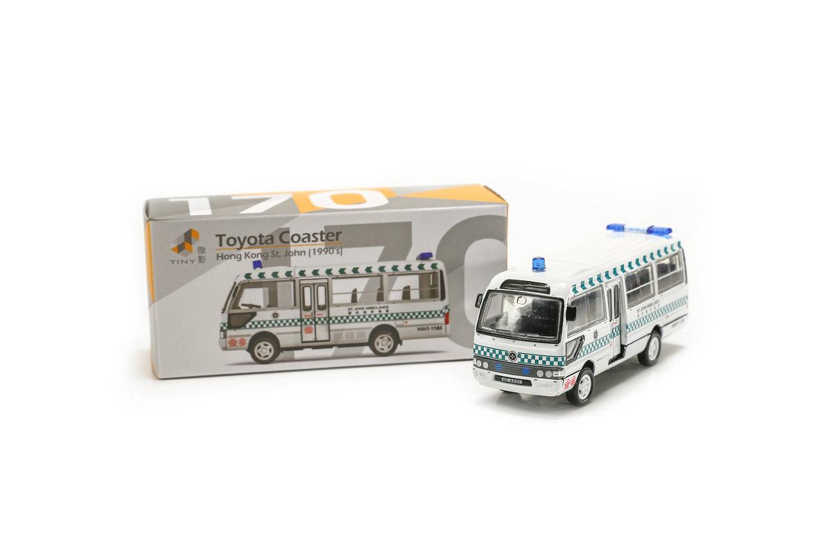 Tiny City 170 Diecast - Toyota Coaster St. John Ambulance 1990's