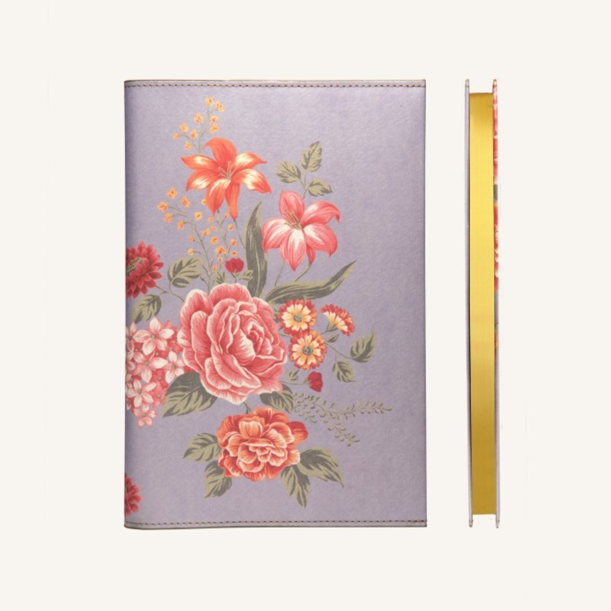 Flower Wow Lined Notebook - Mauve