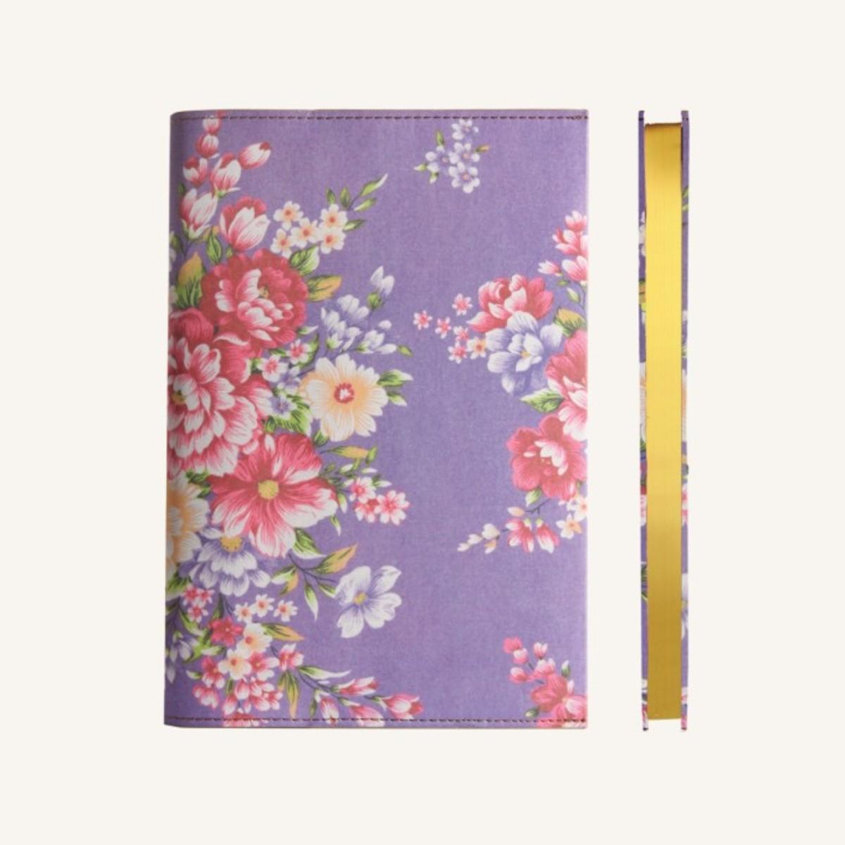 花花世界系列橫線本 - 紫色