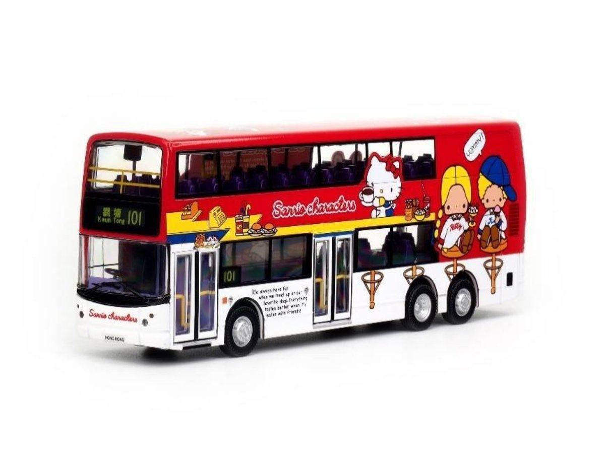 TINY CR164004 1/60 Hello Kitty Bus (Red)