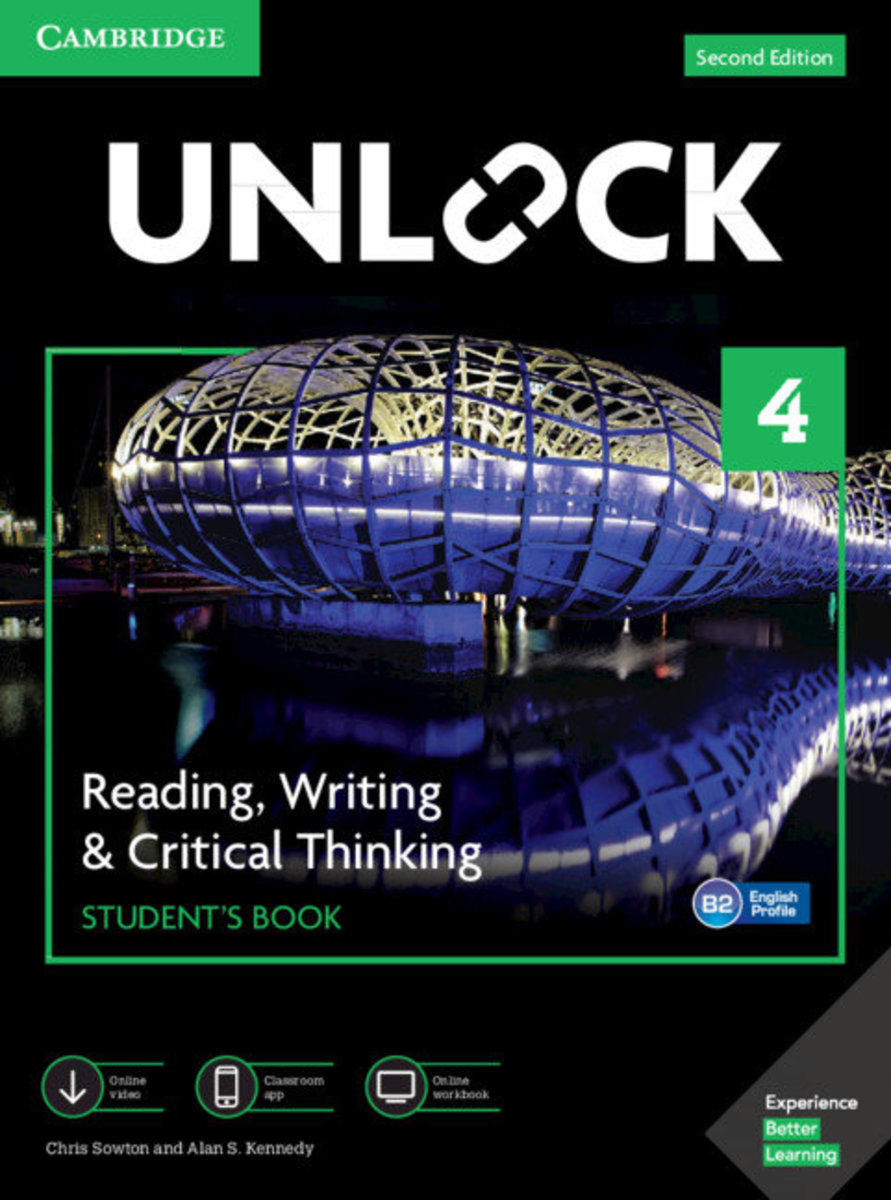 Unlock Second edition Reading, Writing and Critical Thinking Student's Book, Mob App&Online Workbookw/Downloadable Video [ Level 4 ]