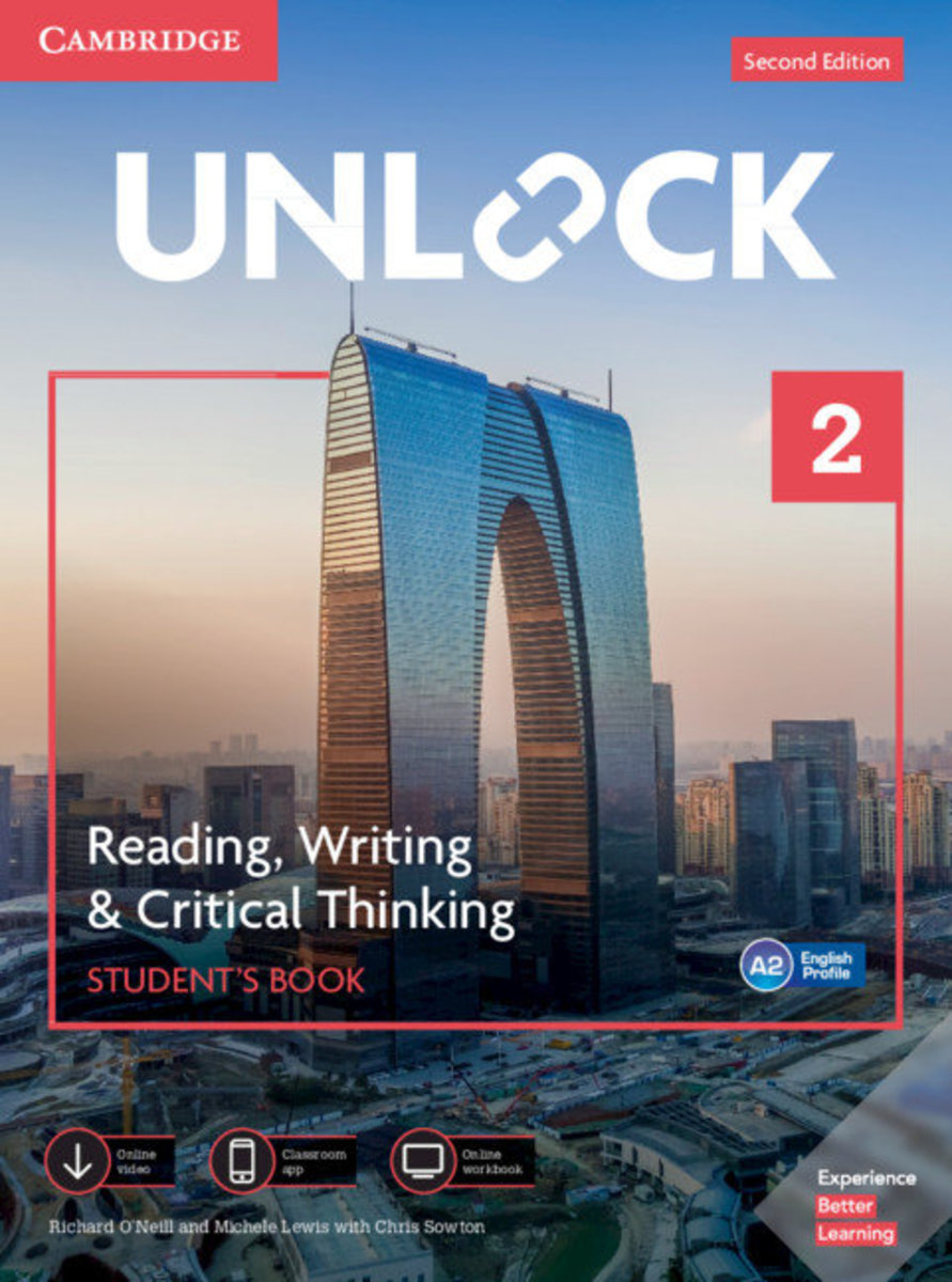Unlock Second edition Reading, Writing and Critical Thinking Student's Book, Mob App&Online Workbookw/Downloadable Video [ Level 2 ]