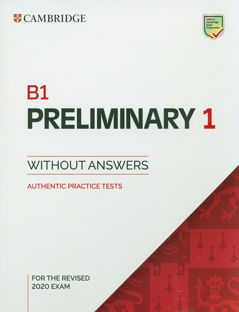 Preliminary 1 for revised exam from 2020 Student's Book without Answers