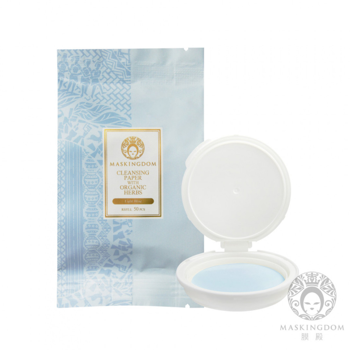 Refill for 3 in 1 Moisture / Cleansing/ Make-up removing Organic Cleaning Flakes Blue Color