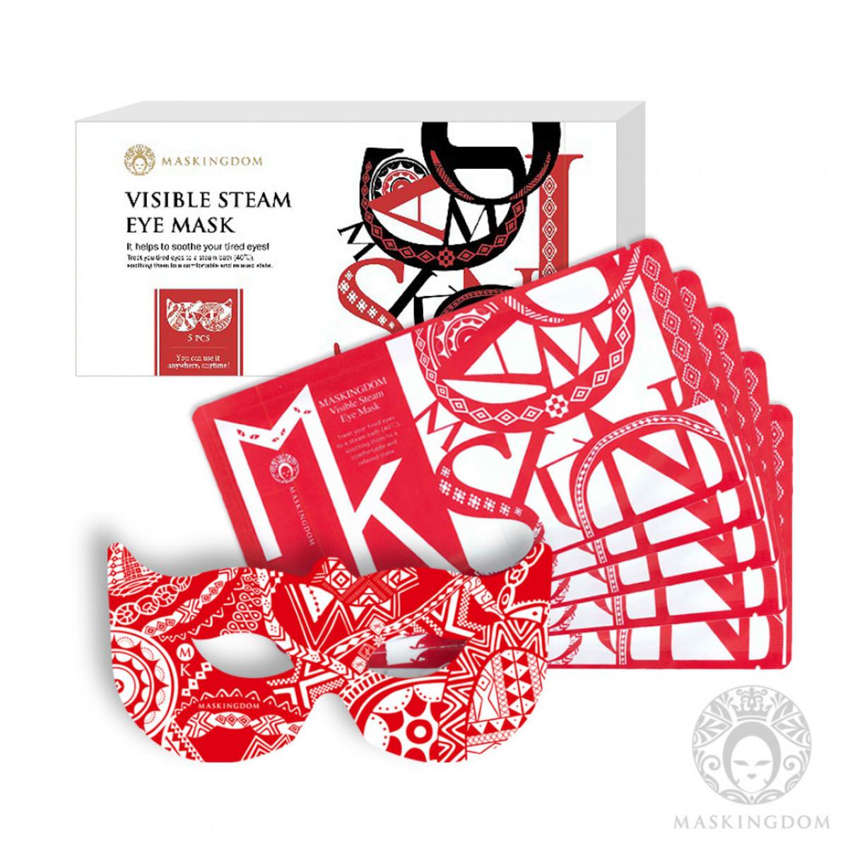 Visible Steam Eye Mask (Heat 40˚C) 5pcs/Box-(Red)
