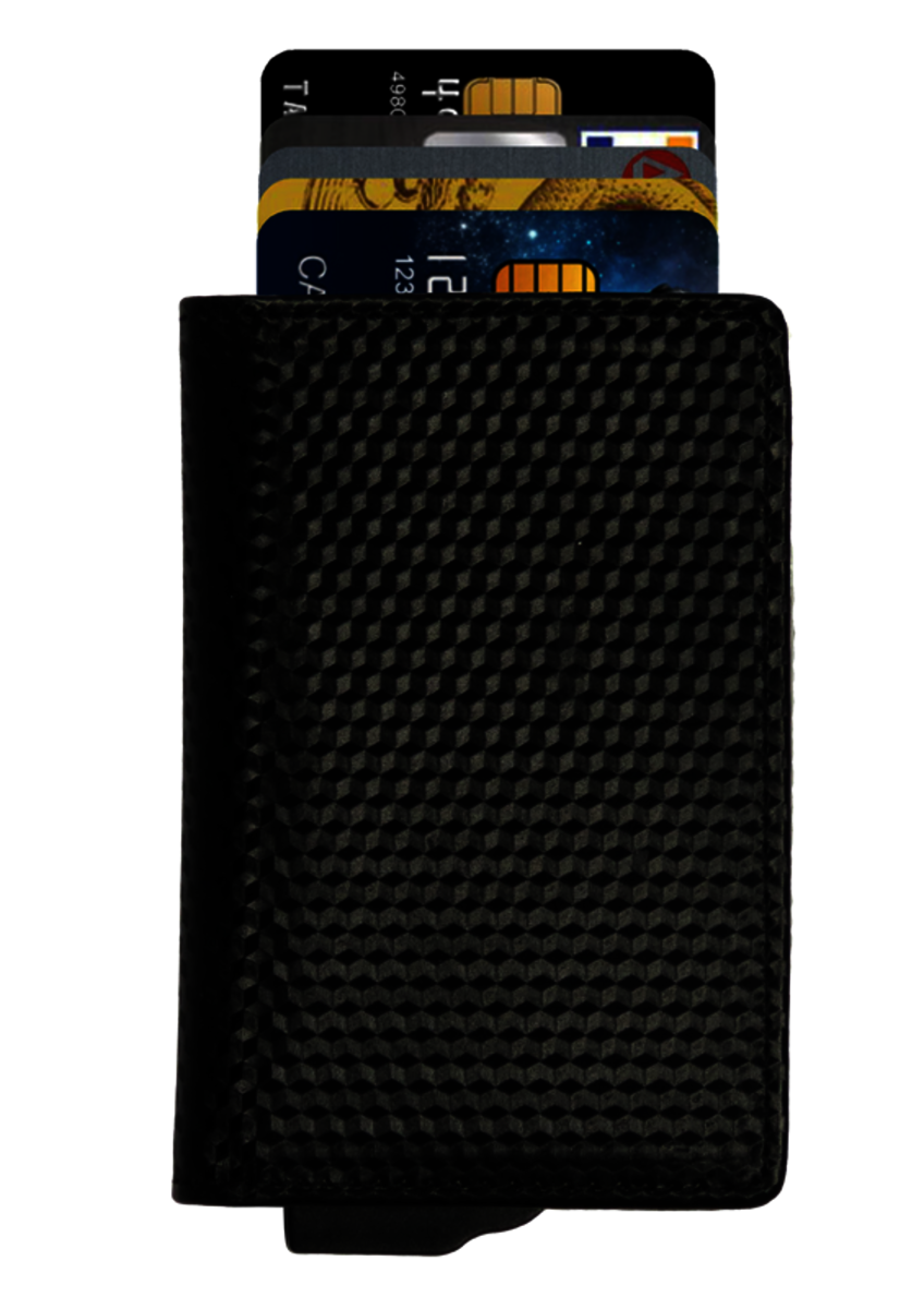 RFID Wallet Mini 3D-4016 Black