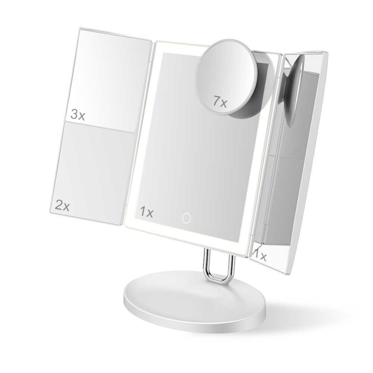 LED Trifold Makeup Vanity Mirror with 34PCS Lights and Magnification  (TB1971)