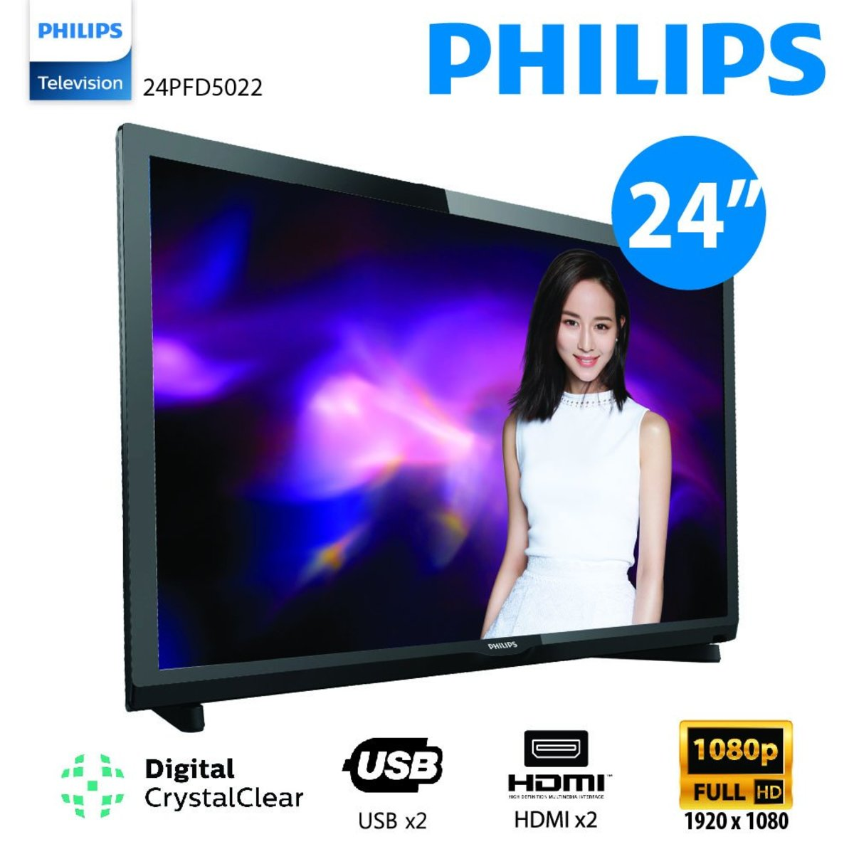 "24"" Full HD Ultra Slim LED Smart TV 24PFD5022 No Free Installation"