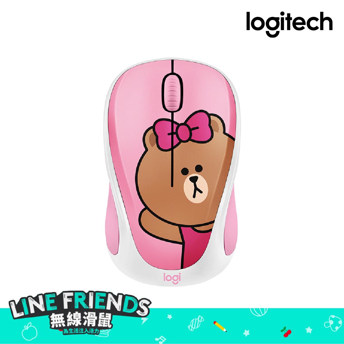 Logitech x LINE FRIENDS 無線滑鼠 M235 CHOCO