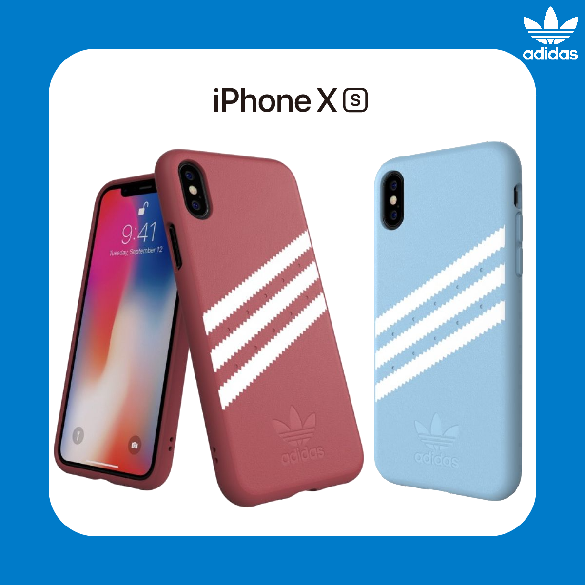 adidas Originals Moulded case PU SUEDE for iPhone Xs Red