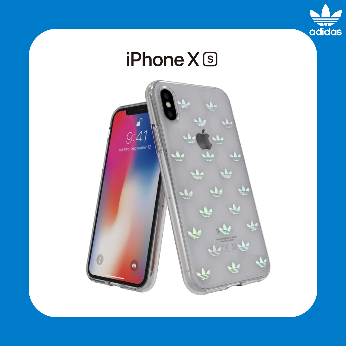 adidas Originals iPhone Xs Clear Snap ENTRY 保護殼 Multi-Color