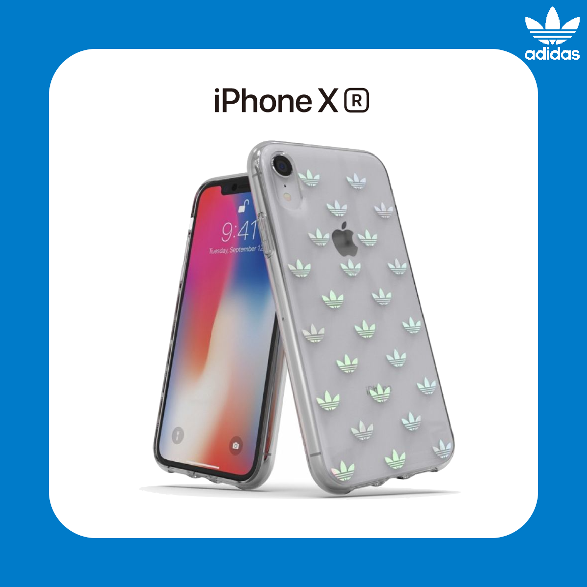 adidas Originals Clear Snap Case ENTRY for iPhone XR Multi-Color