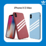 adidas Originals Moulded case PU SUEDE for iPhone Xs Max Red