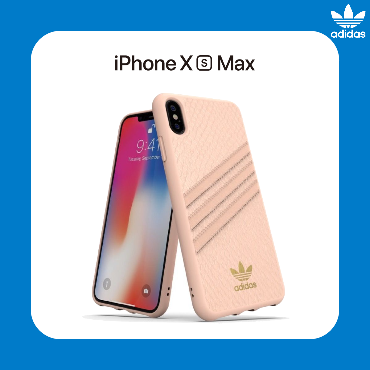 adidas Originals Moulded Case PU SNAKE for iPhone Xs Max Pink
