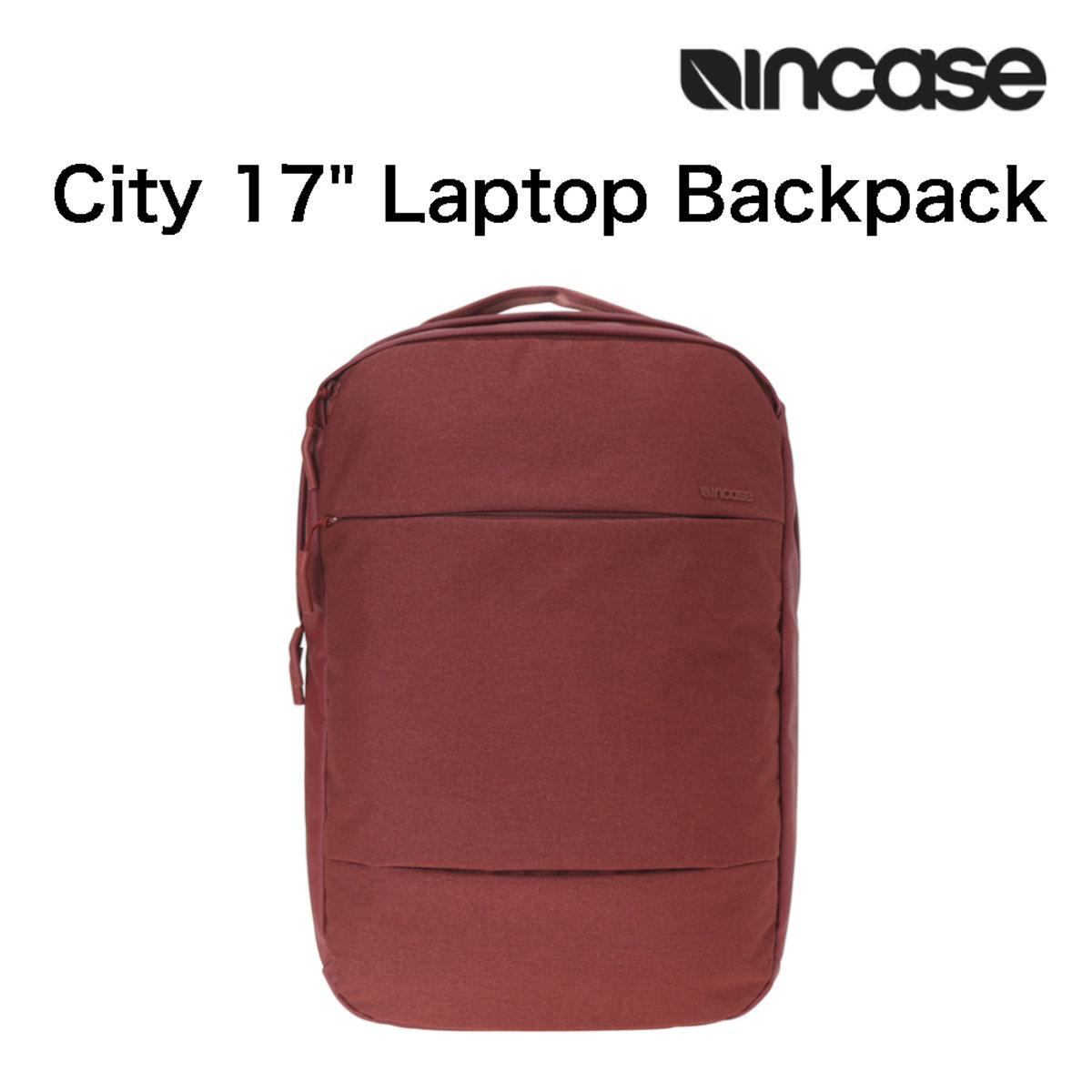 """Incase - City 17"""" Laptop Backpack (Auburn/Linen) CL55559"""