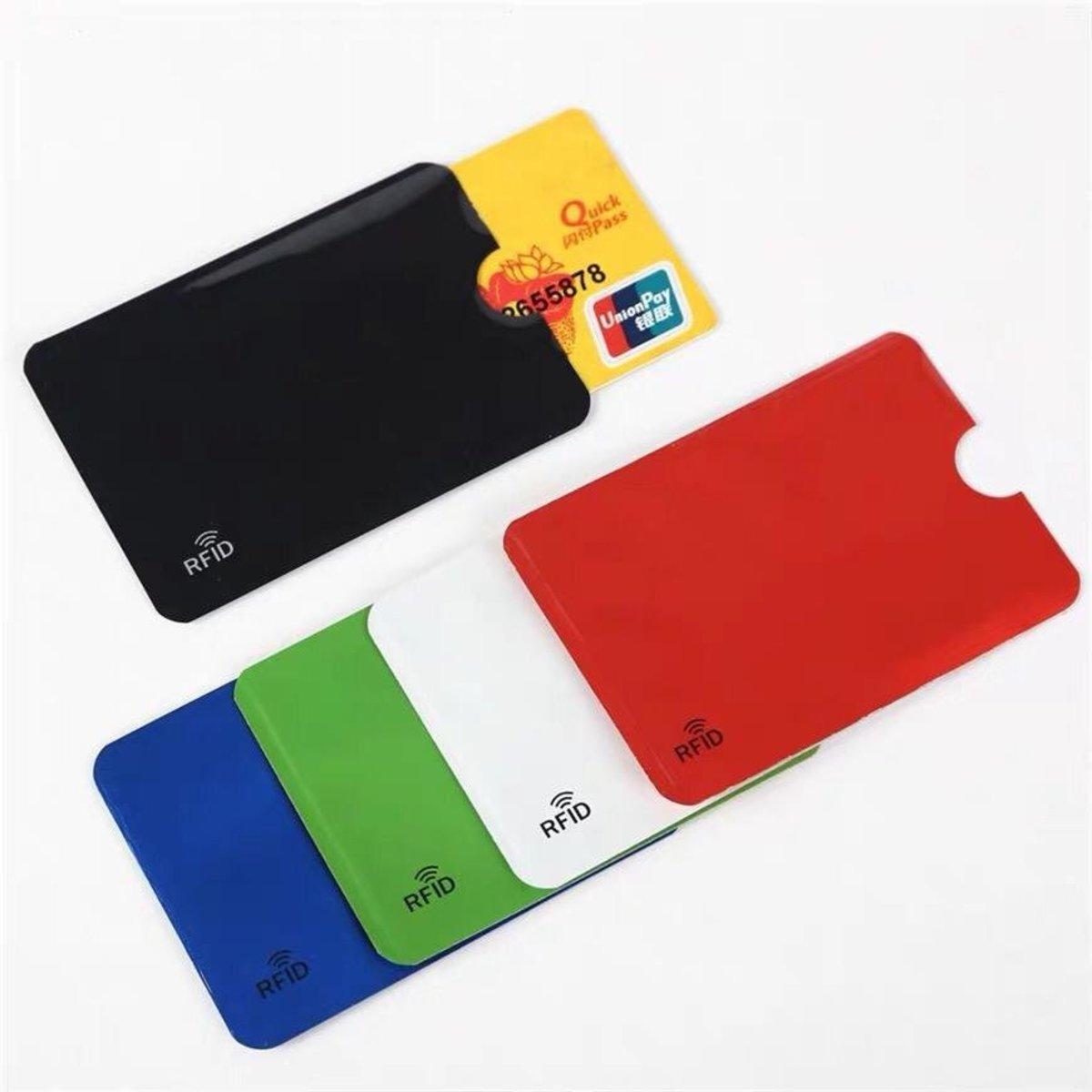 RFID Blocking Sleeves Card Holders 10pcs Black