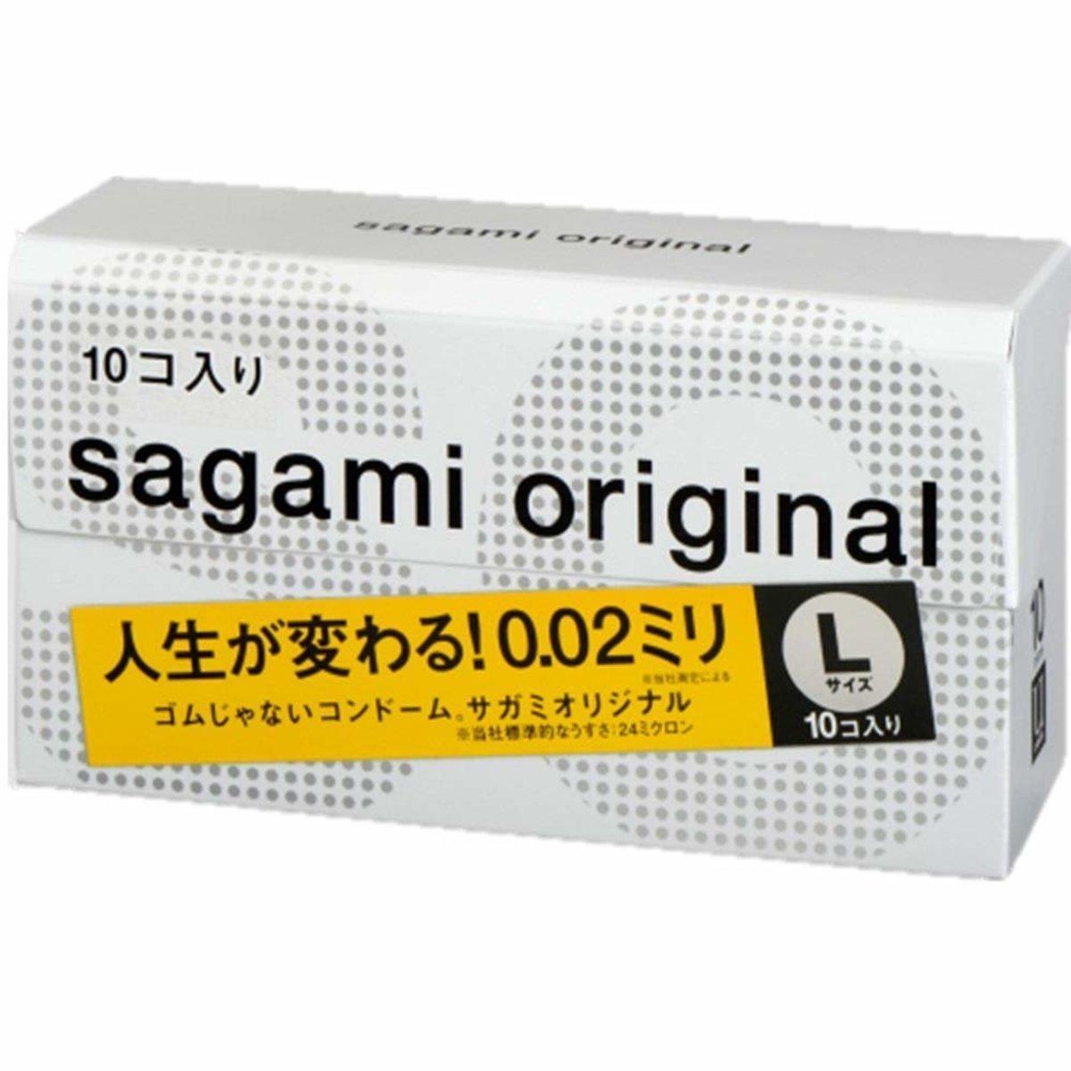 【10片裝】SAGAMI ORIGINAL 相模原創 0.02 大碼 安全套