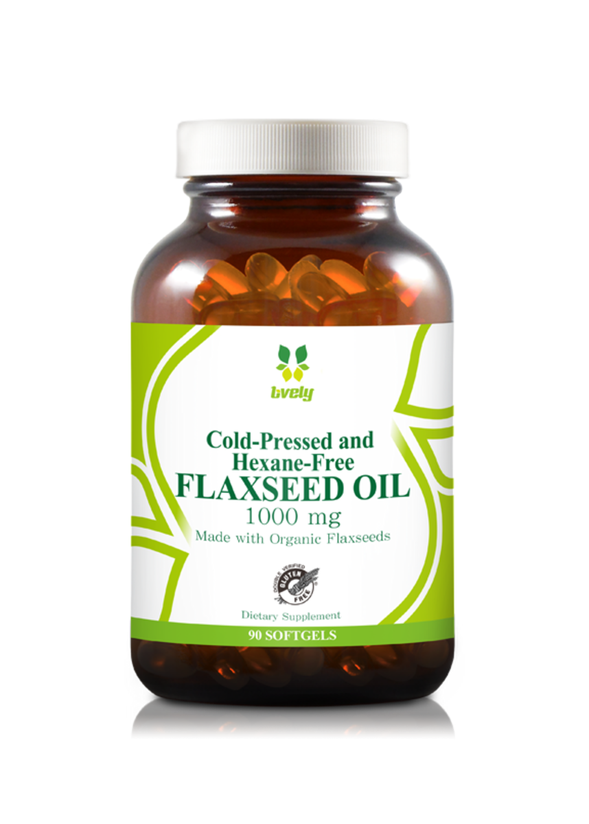 Flaxseed oil 1000mg (90 softgel) (Cold Pressed and Hexane Free)