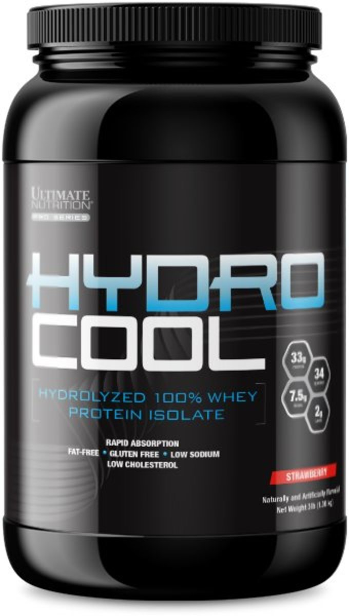 HydroCool - ISO - Hydrolyzed 100% Whey Protein Isolate (Strawberry) (3lbs/ 1.36kg)